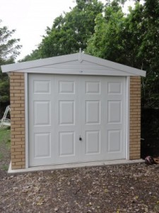 Apex Concrete Sectional Garage with Georgian up and over door