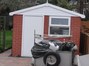 Shed with Apex roof and Brick finish