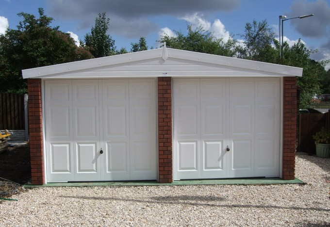 Concrete sectional garages latest news for Surface garage double