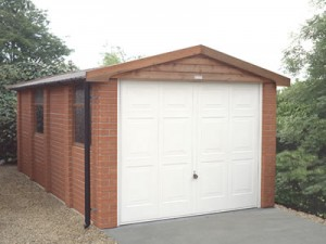 Brick finish Apex concrete Garage