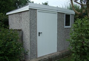 Concrete Sectional Shed/Workshop - Pent style