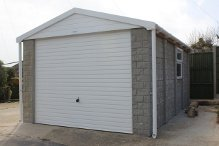 Apex Concrete Sectional Garage with Stone wall finish
