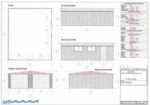 Plan Elevations for Concrete Sectional Garage