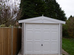 Concrete Apex Garage with deluxe features