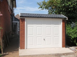 Mansard roof - concrete sectional Garage
